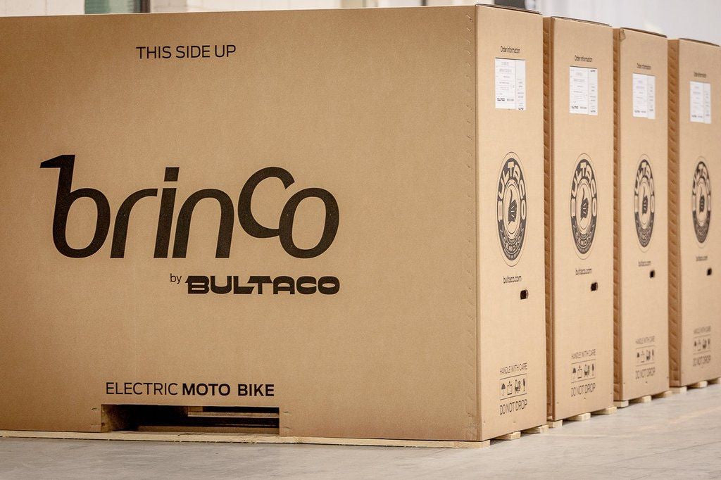 Bultaco Brinco's in their shipping containers