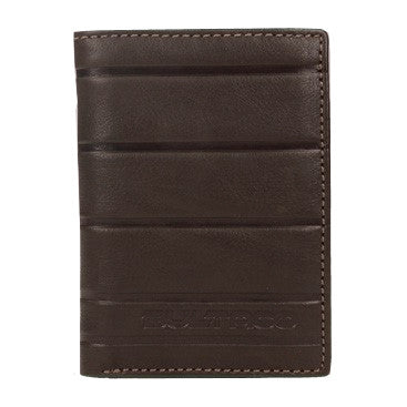 Brown Vertical Wallet With Card Holder