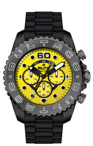 Reloj Speedcity 45 Black Yellow Chronograph Watch