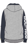 Bultaco Smoke Grey/ Blue Eclipse Zipper Hoodie