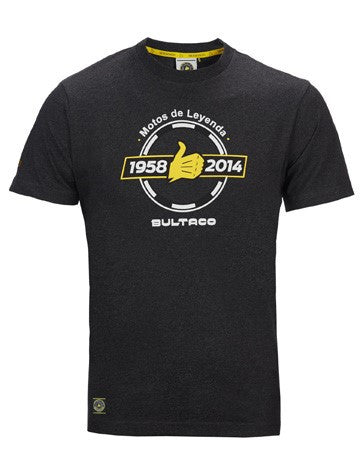 Bultaco Phantom Grey Short Sleeve T-Shirt