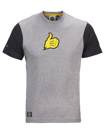 Bultaco Smoke Grey Short Sleeve Shirt Front