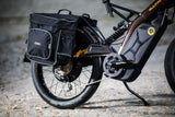 Bultaco Rear Carrier on Albero with bag