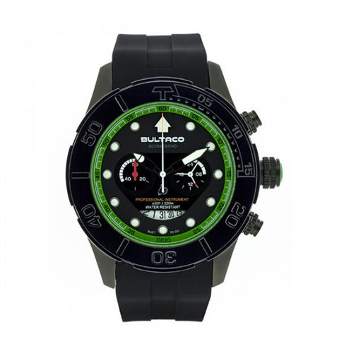 Reloj MK1 48 Black Steel Gun Silicon Chronograph Watch Front