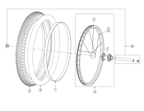 Bultaco Brinco R Front Wheel Diagram