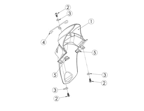 Bultaco Brinco R Rear Plastics Diagram