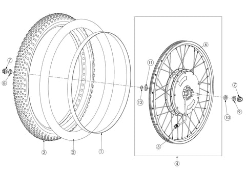Bultaco Brinco R Rear Wheel Diagram
