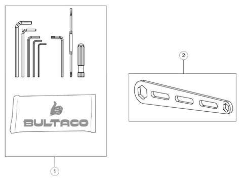 Bultaco Brinco R Tools Diagram