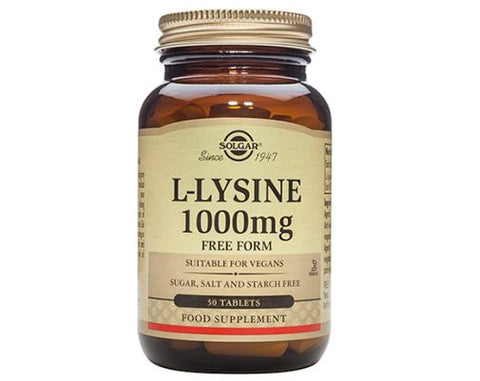 Solgar -  L-Lysine 1000mg Tablets