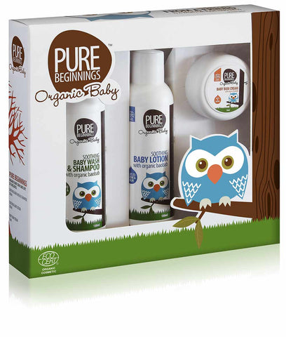 Pure Beginnings Organic Baby Gift Set