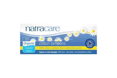 Natracare Super Non-Applicator Organic Cotton Tampons
