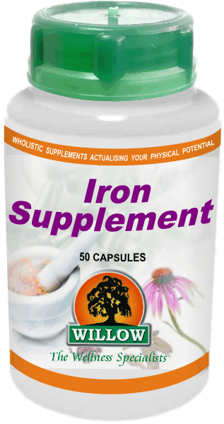 Willow - Iron Supplement 50 Capsules