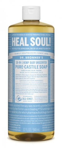 Dr Bronner`s  Pure Castile Liquid Soap - Baby unscented