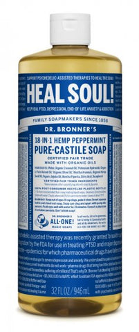 Dr Bronner`s Pure-Castile Liquid Soap - Peppermint