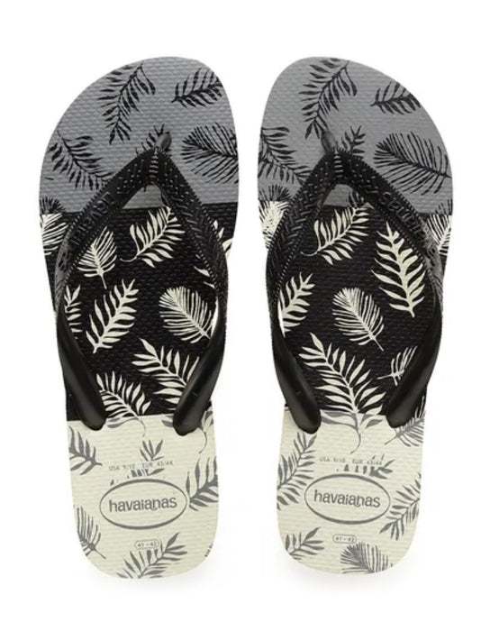 HAVAIANAS TOP ALOHA in WHITE BLACK GREY-2