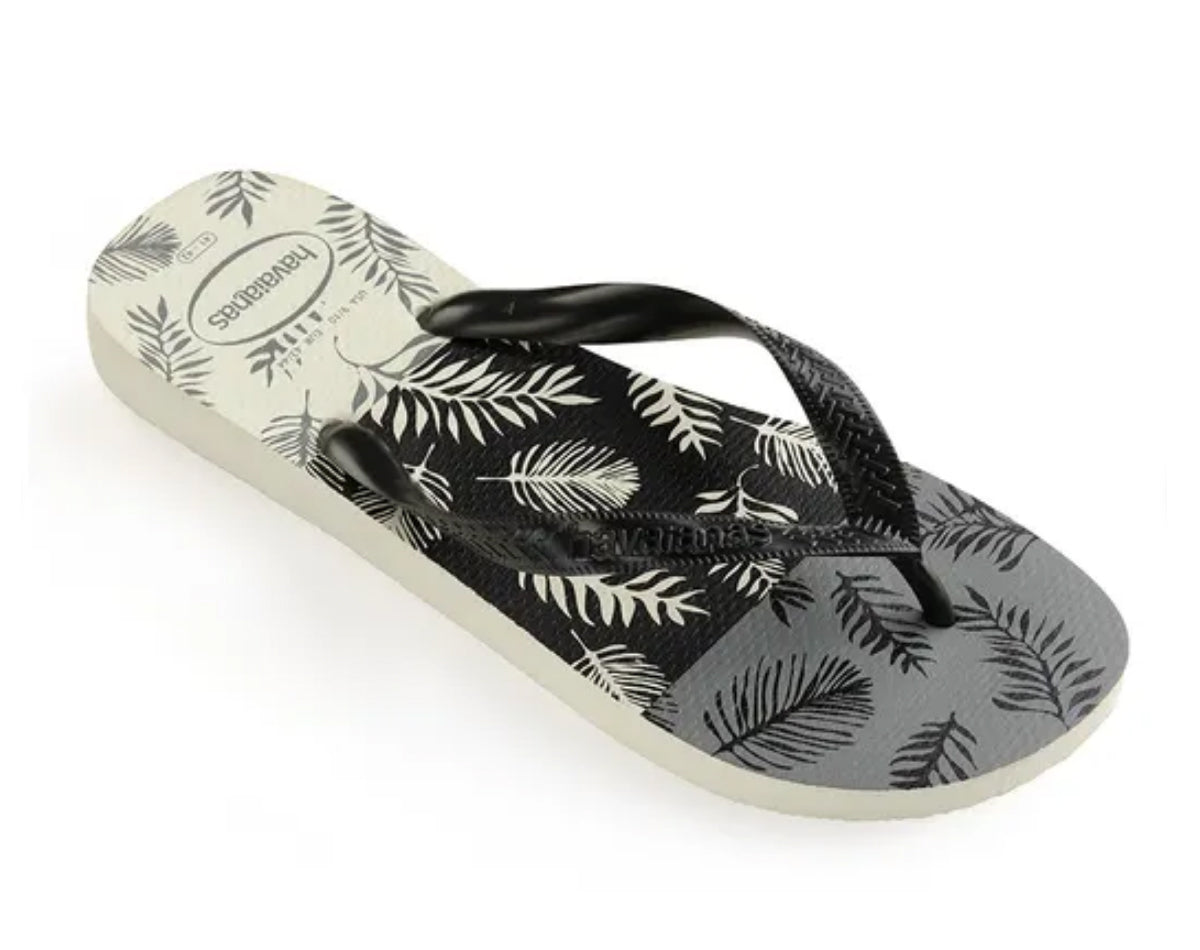 HAVAIANAS TOP ALOHA in WHITE BLACK GREY-1