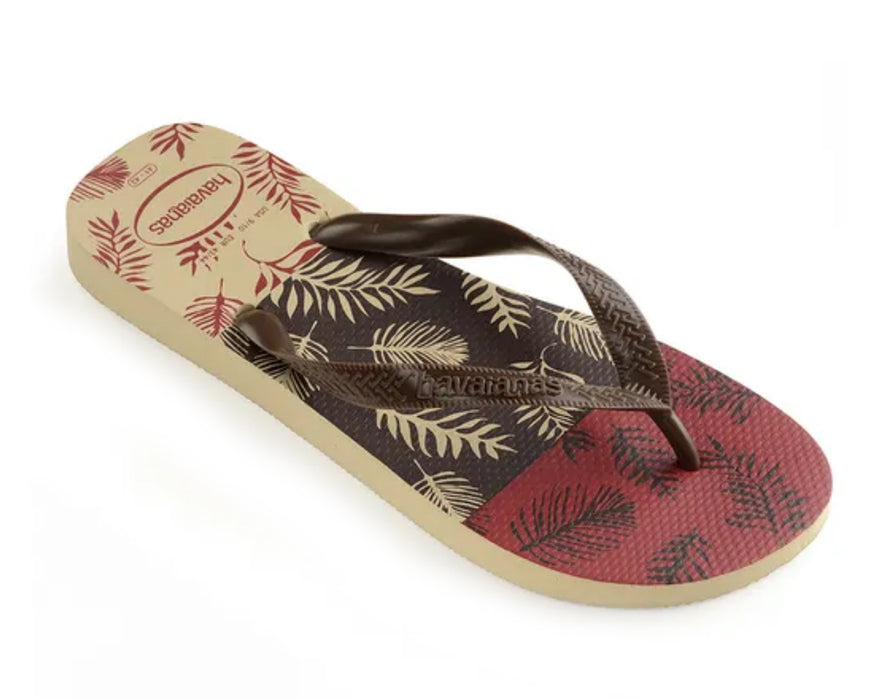 HAVAIANAS TOP ALOHA in SAND GREY D.BROWN BLACK-1