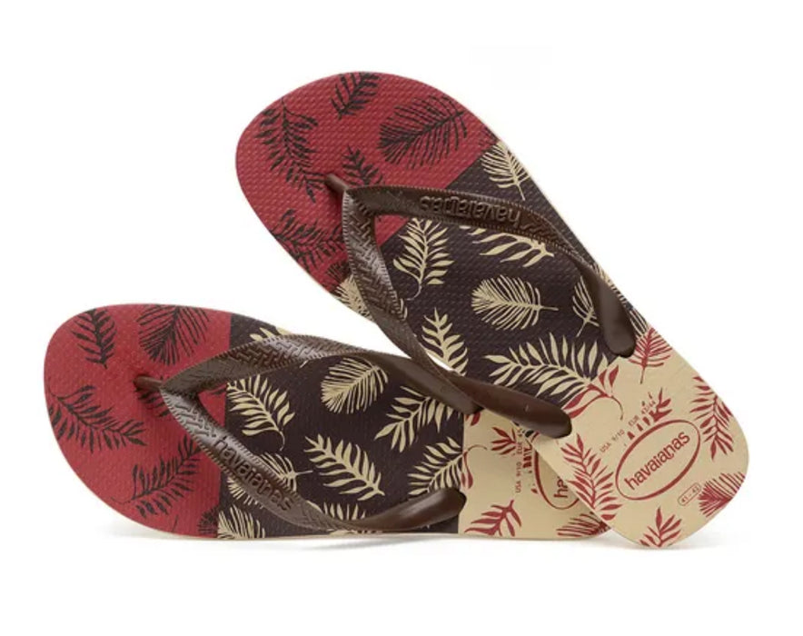 HAVAIANAS TOP ALOHA in SAND GREY D.BROWN BLACK-3