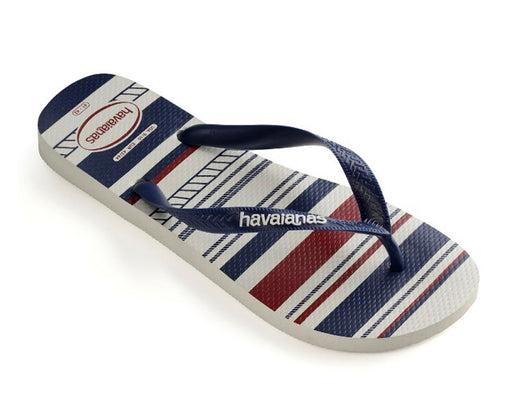 Havaianas Unisex Top Nautical (White & Navy Blue)