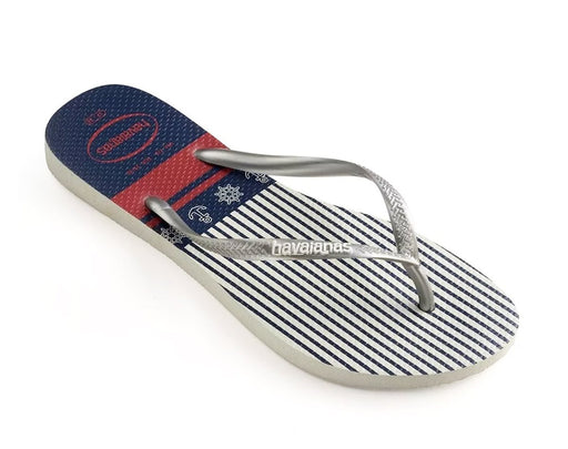Havaianas Women Slim Nautical White Sliver -1
