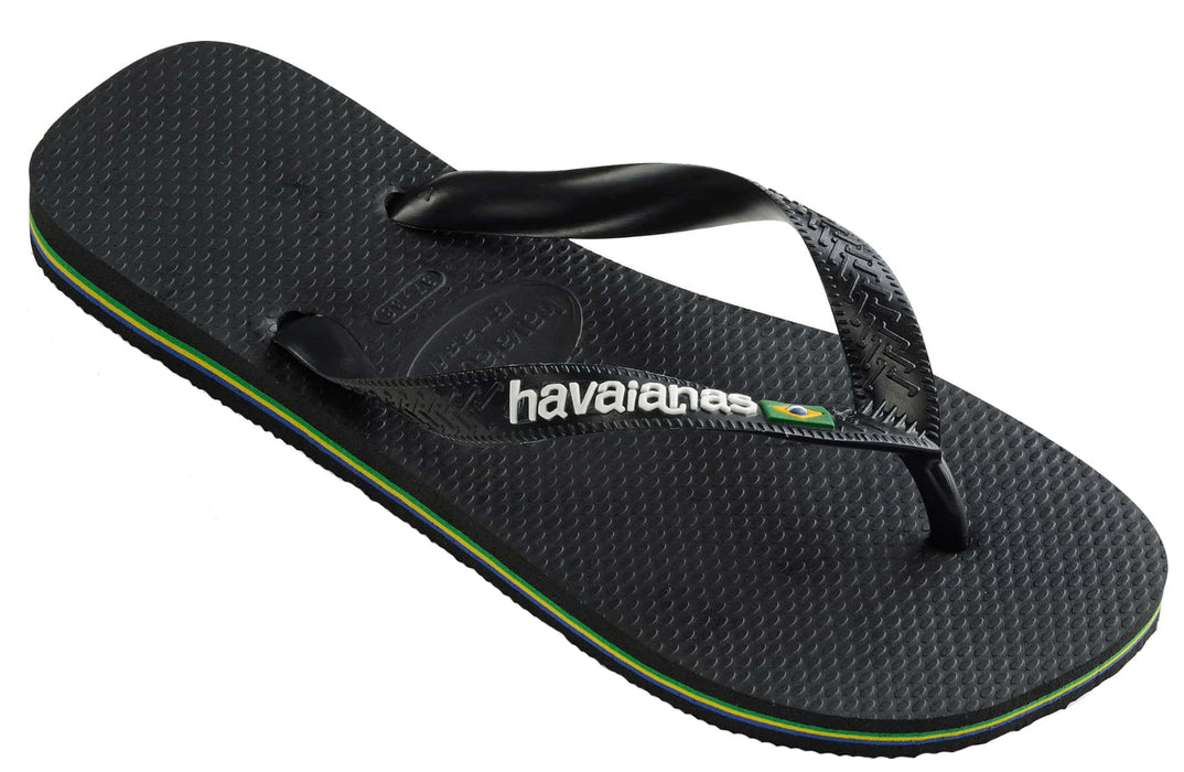 c950f44fa1c55 Havaianas with Brazil Logo for Men (Black) — Schumart