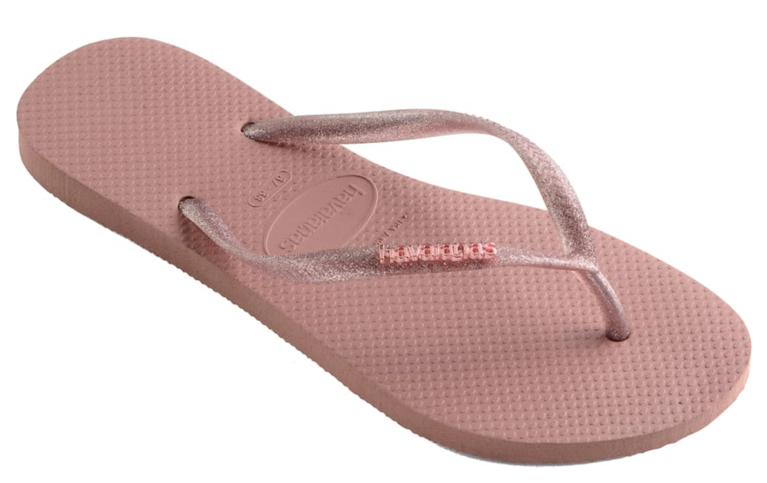 7127d54df536 Havaianas Slim with Metallic Logo (Pink) — Schumart