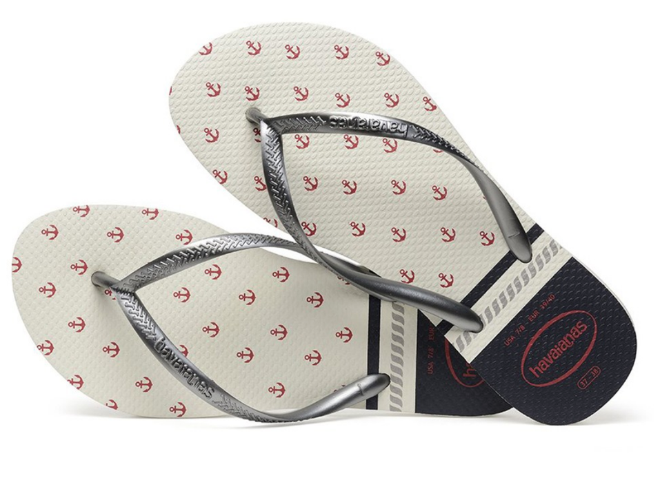 e562f0f8f136 Havaianas Slim Nautical for Women (White   Graphite) — Schumart