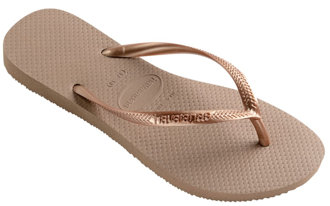HAVAIANAS SLIM in ROSE GOLD-1