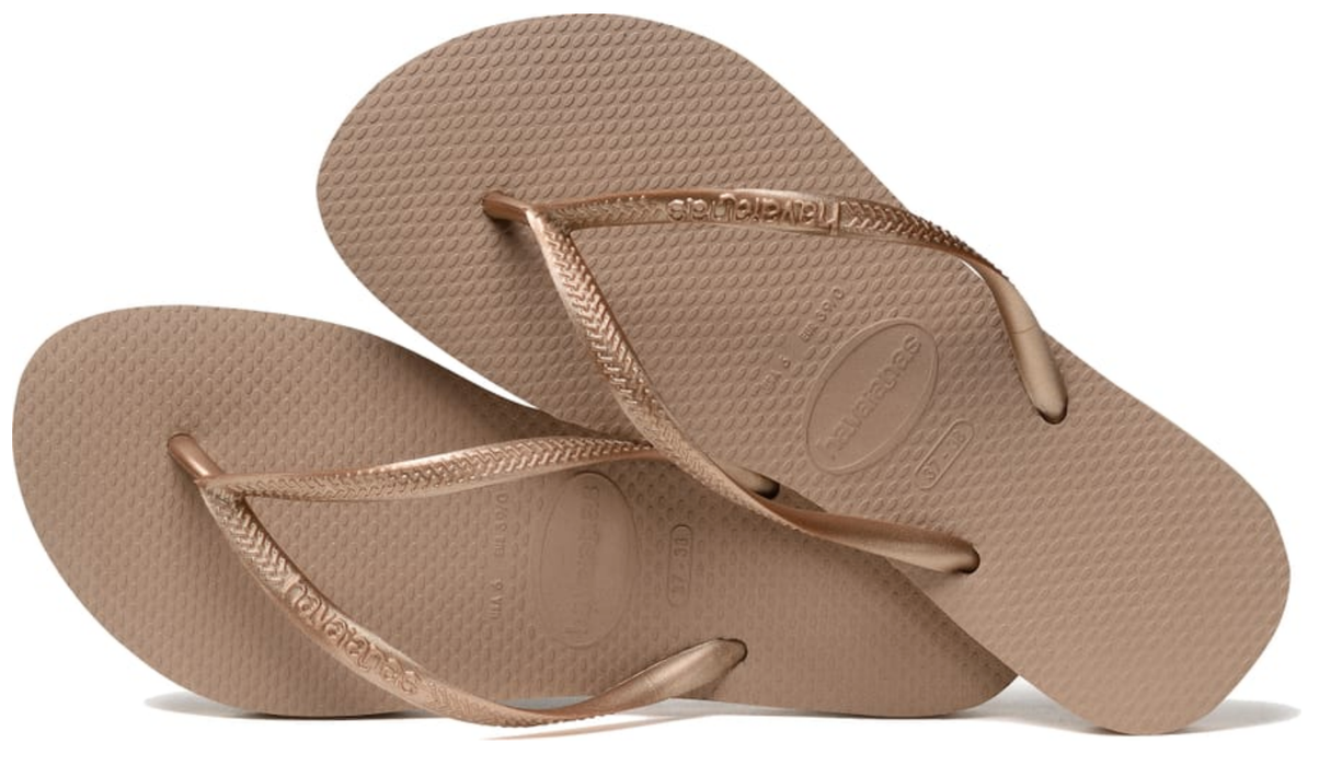 HAVAIANAS SLIM in ROSE GOLD-3