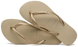 HAVAIANAS SLIM in SAND GREY & LIGHT GOLD-3