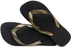 HAVAIANAS TOP TIRAS in BLACK & GOLD-3