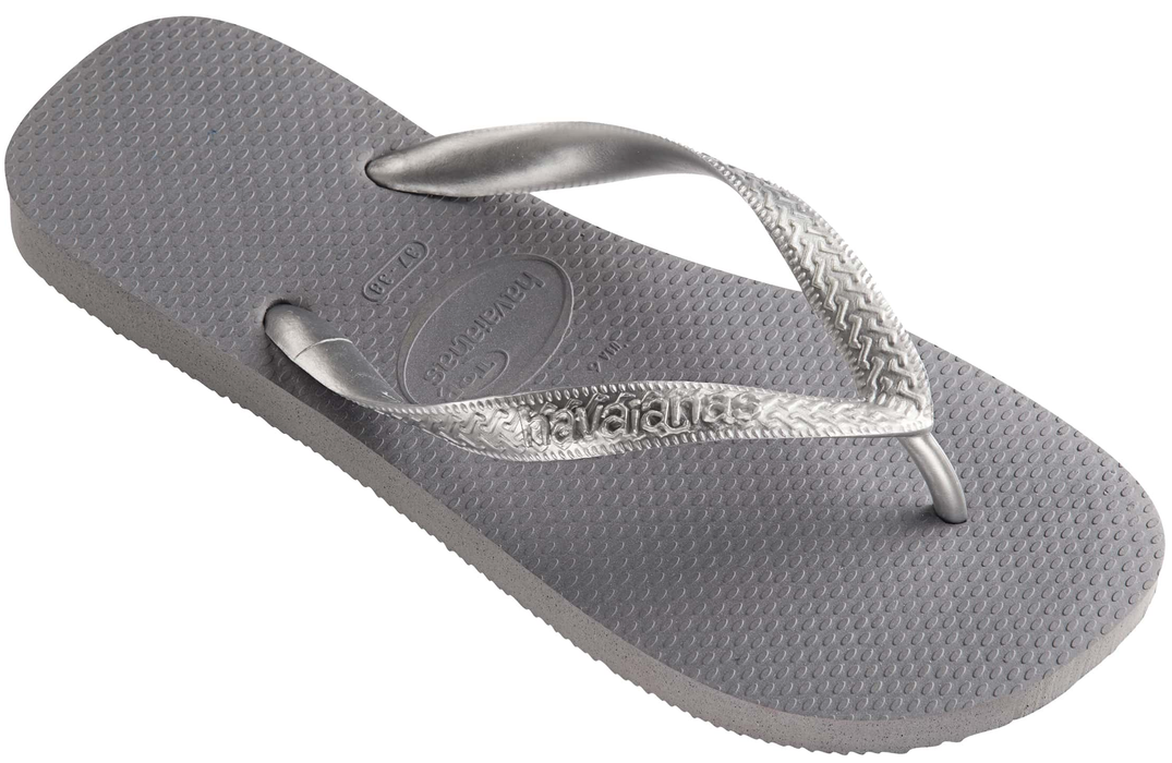 497714f3a15a Womens  Havaianas with Steel Grey Metallic Top — Schumart