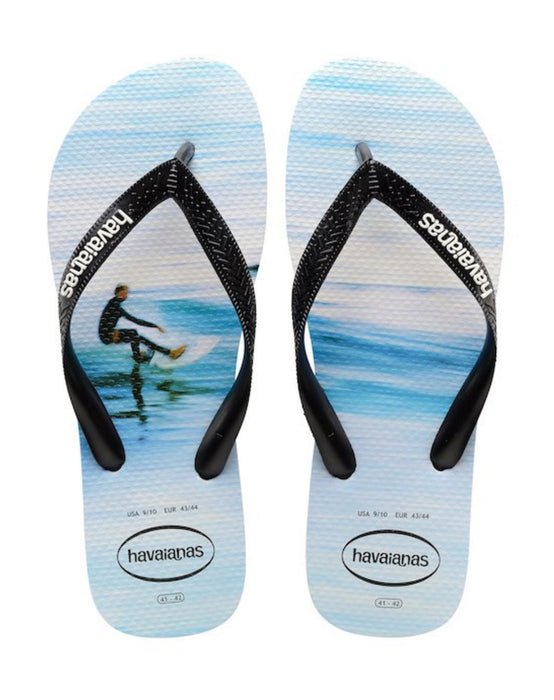HAVAIANAS HYPE in WHITE WAVE-2