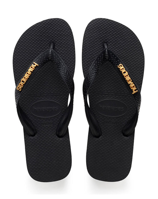 HAVAIANAS LOGO METALLIC in BLACK-2