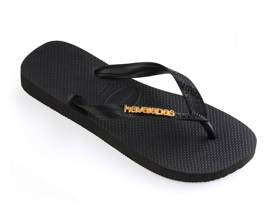 HAVAIANAS LOGO METALLIC in BLACK-1