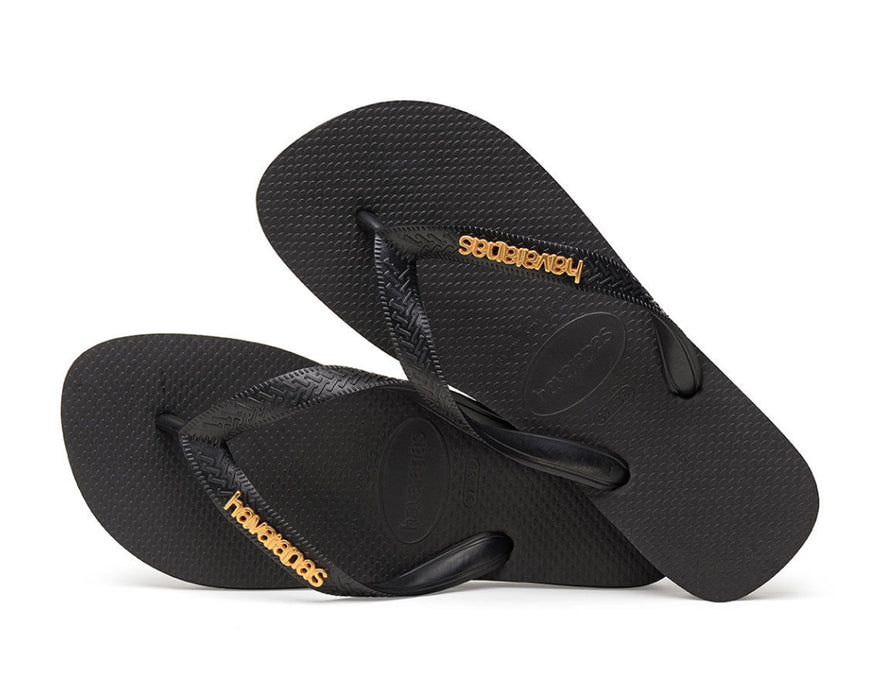 HAVAIANAS LOGO METALLIC in BLACK-3