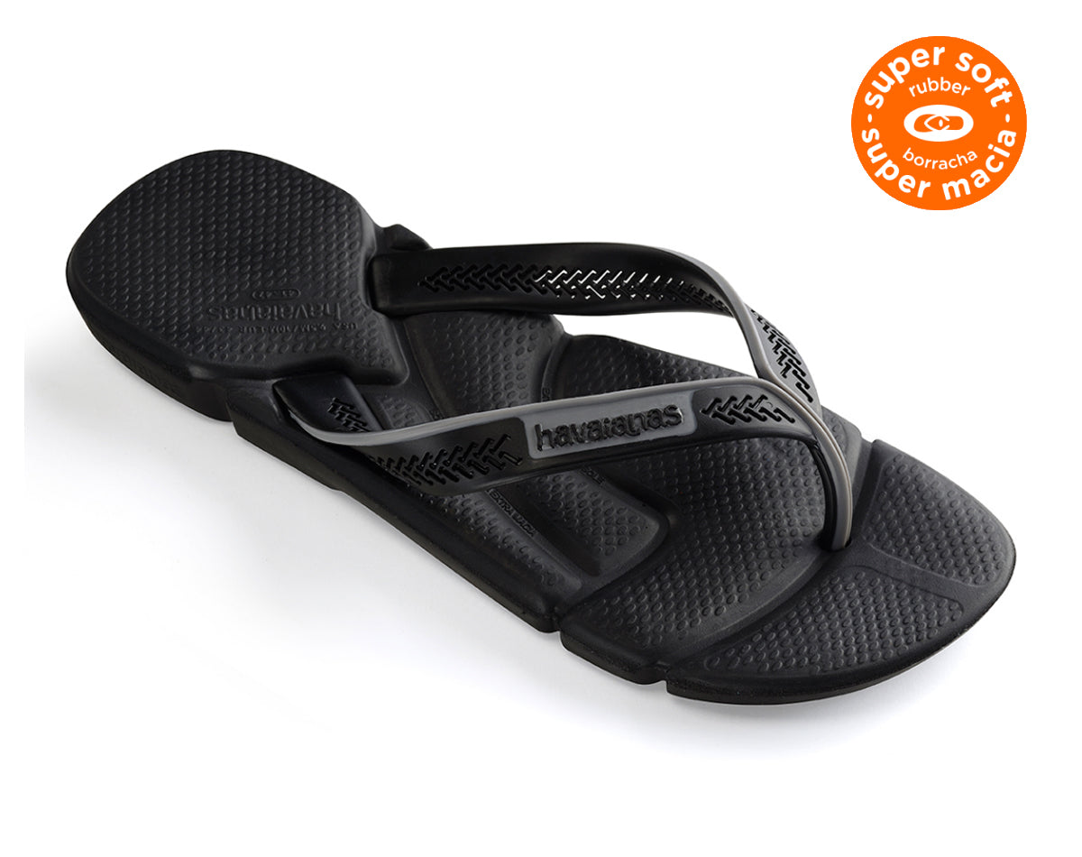 HAVAIANAS POWER in BLACK & STEEL GREY-1