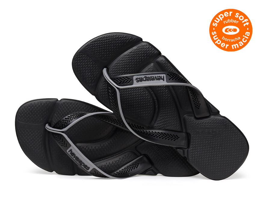 HAVAIANAS POWER in BLACK & STEEL GREY-3