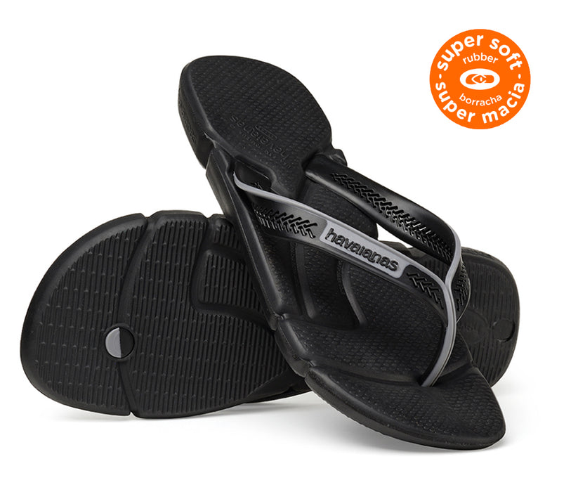 HAVAIANAS POWER in BLACK & STEEL GREY-5