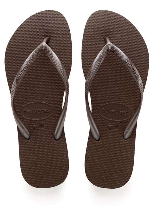 HAVAIANAS SLIM in DARK BROWN-2