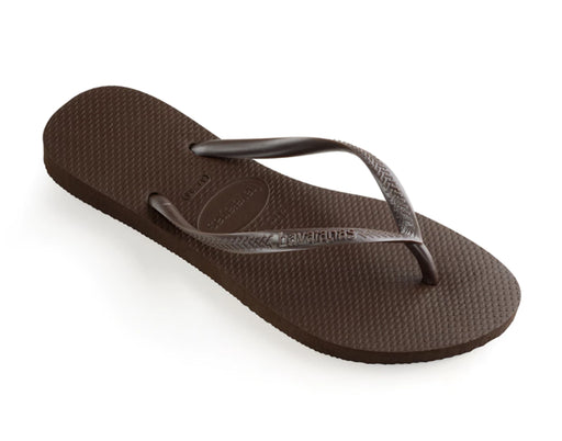 HAVAIANAS SLIM in DARK BROWN-1