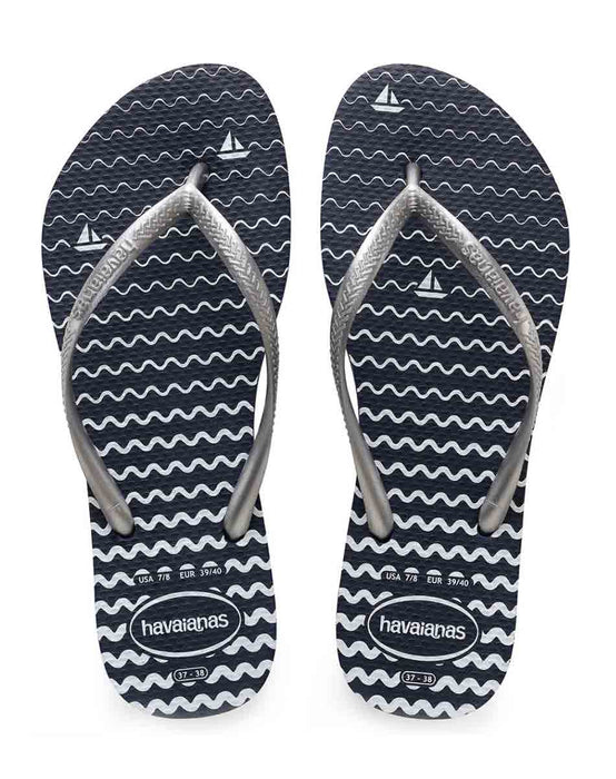 HAVAIANAS SLIM OCEANO in NAVY BLUE-2