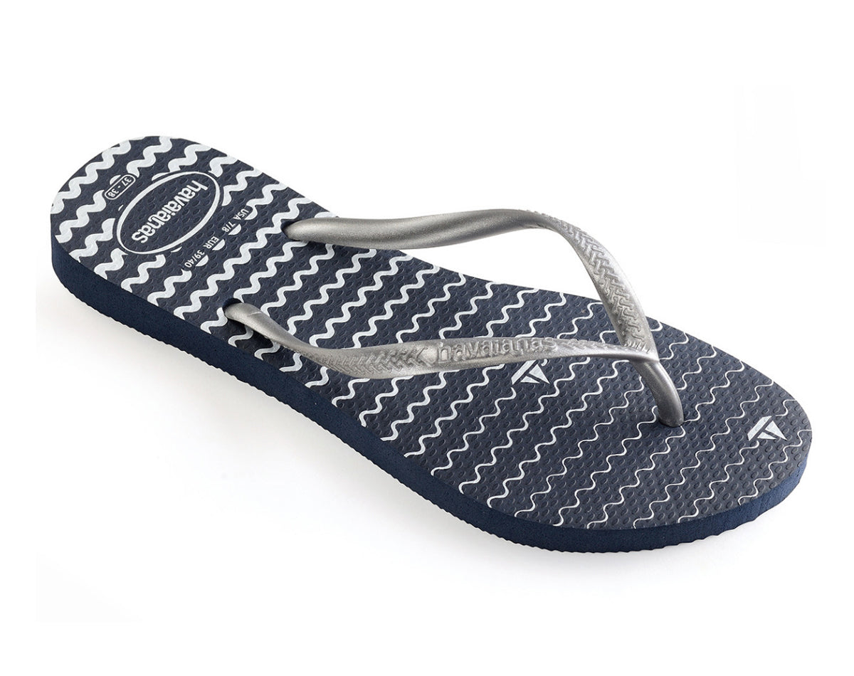 HAVAIANAS SLIM OCEANO in NAVY BLUE-1