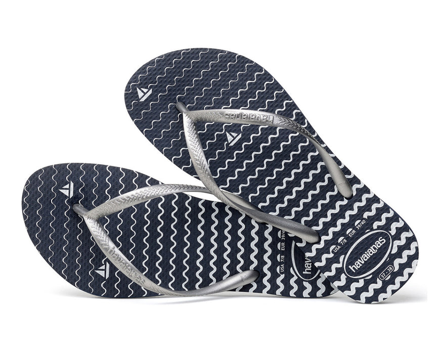 HAVAIANAS SLIM OCEANO in NAVY BLUE-3
