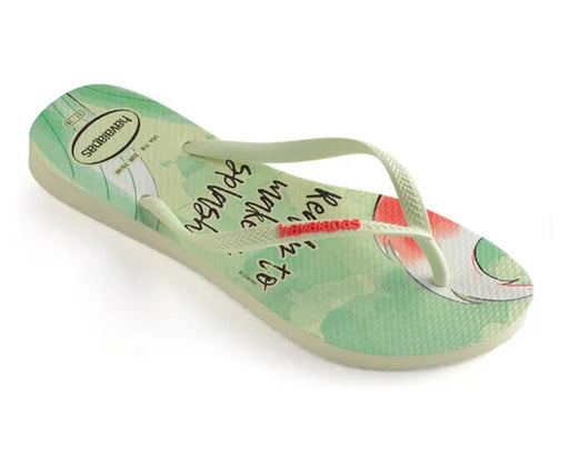 HAVAIANAS SLIM PRINCESS in APPLE GREEN-1