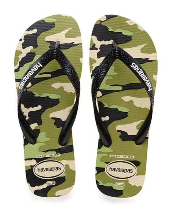 HAVAIANAS TOP CAMO in BEIGE & BLACK-2
