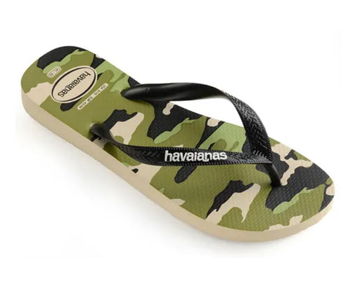 HAVAIANAS TOP CAMO in BEIGE & BLACK-1