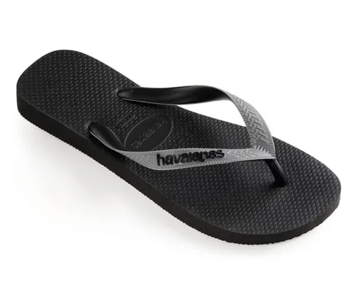 HAVAIANAS TOP MIX in BLACK & STEEL GREY-1