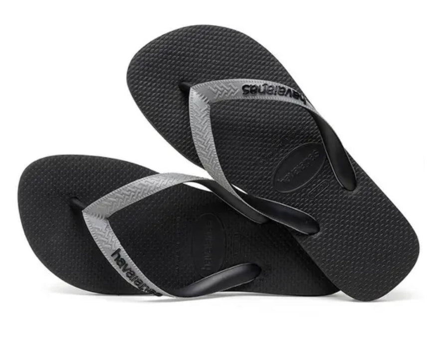 HAVAIANAS TOP MIX in BLACK & STEEL GREY-3