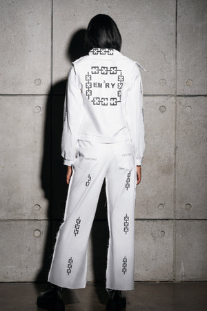 White Denim Link Pant